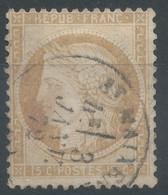 Lot N°60956  Variété/n°55, Oblit Cachet à Date De St-Maixent, Deux-Sèvres (75), Ind 3, S Et T De POSTES Relié Par Une Ta - 1871-1875 Ceres