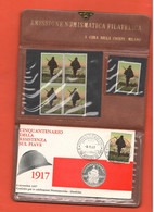 Piave X Il Cinquantenario Resistenza 1 WW 1917 1967 Medaglia E Francobolli X 50° Anniversario Della Battaglia Sul Piave - Other