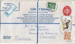 Ireland , Eire ,   Stationery 55 ,  Registration Label Bri Chualann , Horse Stamp , King Of Diamonds - Enteros Postales