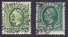 Schweden, 1891, Michel-Nr. 41 A+b, Gestempelt - Used Stamps