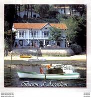 ARCACHON  CPM N°8  Ramassage Des Huitres Au Bord Du Bassin D'Arcachon  ........... état Luxe - Arcachon