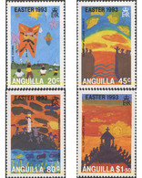 Ref. 50564 * MNH * - ANGUILLA. 1993. EASTER CHILDREN'S DRAWINGS . PASCUA. DIBUJOS INFANTILES - Anguilla (1968-...)