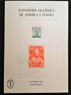 "Spain, Uncirculated Stamped Stationery, ""Exposición Filatelica De America Y Europa"", Barcelona, 1977 - Unclassified"
