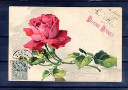 Carte Illustrée Signée. Rose - Flowers
