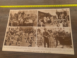 1930 PATI2 Cortège Historique De 1830 à Liège Hubert Goffin Charles Rogier - Ohne Zuordnung
