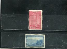 Canada 1938 Yt 197-198 * - Nuevos