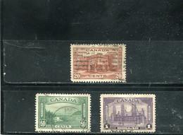 Canada 1938 Yt 199-201 - Usados