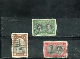 Canada 1938 Yt 202-204 - Usados