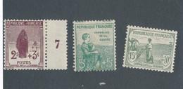 FRANCE - N° 148/50 NEUFS* AVEC CHARNIERE - 1917/18 - COTE : 80€ - Ongebruikt