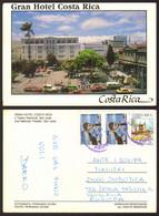 Costa Rica San Jose National Theatre Cars Nice Stamp  #28807 - Costa Rica