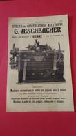 Vieux Papiers G.aeschbacher Bienne Suisse 1914 - Advertising