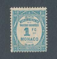 MONACO - TAXE N° 27 NEUF* AVEC CHARNIERE - 1932 - Strafport