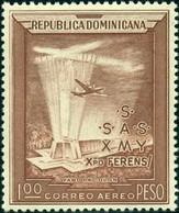 DOMINICAINE (République) -  Avion Au-dessus Du Mausolée De Columbus - Aerei