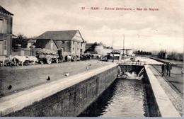 HAM  -  Ecluse Inférieure  -  Rue De Noyon  -  Attelages De Boeufs  -  N°12 - Ham