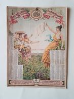 CALENDRIER  PUBLICITAIRE  1898  JOURNAL  LA  PETITE  GIRONDE  BORDEAUX - Big : ...-1900