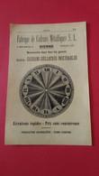 Vieux Papiers Fabrique De Cadrans Metalliques Sa Bienne Suisse 1914 - Advertising