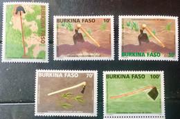 BURKINA 2005 MNH STAMP ON FARMING TOOLS SET OF 5 - Burkina Faso (1984-...)