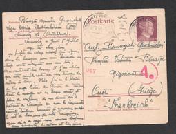 1944 POSTKARTE  DE SOSNOWITZ ( OBERSCHLES ) / GEMEINZSCHAFTSLAGER / SOSNOWIEC POLOGNE / STO ? TRAVAILLEUR ?  C2634 - Briefe U. Dokumente