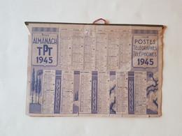 CALENDRIER  1/2  FORMAT  1945  OBERTHUR    SOUPLE  AVEC  REGLETTE  CARTON - Small : 1941-60