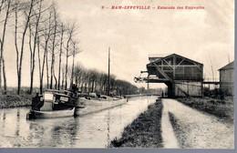 HAM  -  EPPEVILLE  -  Estacade Des Entrepôts   -  Péniche    -  N°9 - Ham