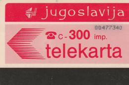 Yugoslavia - Telekarta 300 - Poštanska Štedionica - Yougoslavie