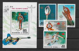 Korea (Nord)1987 Olympia Mi.Nr. 2879/82 Kpl. Satz + Block 226 ** - Corea Del Nord