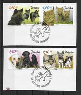 Polen 2002 Hunde Mi.Nr. 3960/63 Kpl. Satz Gestempelt Auf Papier - Usati