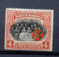 Bornéo Du Nord - Protectorat Britannique - Surcharge Croix De Malte - British Indian Ocean Territory (BIOT)