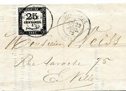 Lettre Locale De Bordeaux Taxe N° 5 Type 1 Très Grandes Marges 22 Juillet 1872 Luxe - 1849-1876: Classic Period