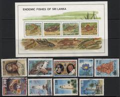 Sri Lanka (16) 1990 - 2007. 27 Different Stamps. Used & Unused. Hinged. - Sri Lanka (Ceylon) (1948-...)