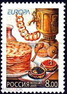 RUSSIE/RUSSIA/RUSSLAND/ROSJA 2005 MI.1261** ,ZAG.1029,YVERT...,Sheetlet Gastronomy Europa-CEPT Europa Issue Programe Fo - Ungebraucht