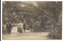 CASABLANCA- Jardin Public... 1920  Animé - Casablanca