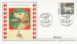 MONACO FDC 1992 EXPO CANINE - LABRADOR - FDC