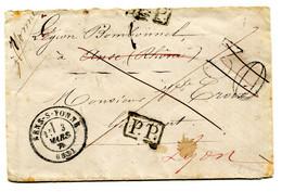 Env Sens/Anse Légion Bombonnel Au Lt Croix Taxe 30 Centimes Annulée Et Tampon PP 3 Mars 1871 TB - 1849-1876: Classic Period
