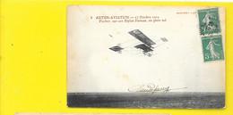 Aviateur FISHER Sur Farman Autun Aviation 1910 - Airmen, Fliers