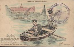Guerre 14 18 FM Cachet 47e Bataillon De Chasseurs Alpins Le Commandant 18 DEC 1914 CPA Ma Cure Aix Les Bains Sur Le Lac - WW I