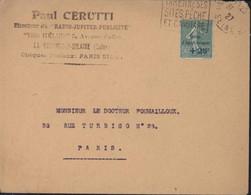 YT 247 Caisse D'amortissement Seul Sur Lettre Daguin La Varenne Ses Sites Pêche Et Canotage CAD La Varenne Seine 1927 - 1921-1960: Periodo Moderno