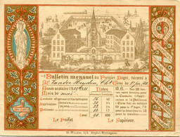 1910 Bulletin Mensuel Année Scolaire 1909/10 Vander Heyden C. - Pensionat - Lith. Strybol Vercruyssen - Zeer Mooi - Diploma & School Reports
