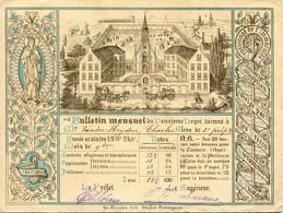 1911 Bulletin Mensuel Année Scolaire 1910/11 Vander Heyden C. - Pensionat - Lith. Strybol Vercruyssen - Zeer Mooi - Diploma & School Reports