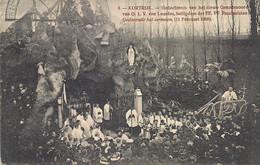 """KORTRIJK""""GEDACHTENIS VAN HET NIEUW GENADEOORD VAN O.L.V.VAN LOURDES,HEILIGDOM DER EE.PP.PASSIONISTEN-11 FEBRUARI 1908 - Kortrijk"""
