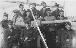 1918 - 1919 / CARTE PHOTO / BATEAU / CHASSEURS DE SOUS-MARIN C 25 / EQUIPAGE / MARINE NATIONALE / NAVIRE / 1914 - 1918 - Barche