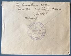 France WW1, Cachet 61e Regiment + Au Verso TRAVAILLEURS RUSSES - 2 Photos - (A1138) - 1. Weltkrieg 1914-1918