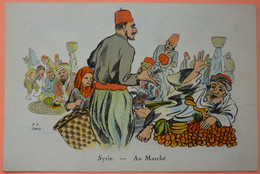 CARTE ILLUSTRATEUR GOD - SYRIE - AU MARCHE -2 SCANS-13 - Siria