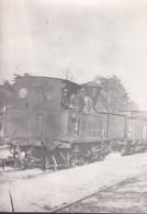 Carte Photo - Locomotive Vapeur Et Wagons - Trenes