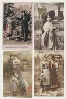 Lot De 6 Cartes Militaires Patriotiques - Femme Alsacienne - Soldat - Rattachement De L'Alsace à La France 1870-1914... - Patriotic