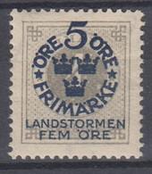 ++M1571. Sweden 1916. Landstorm. AFA 79. Michel 88. MH(*)  Hinged - Unused Stamps