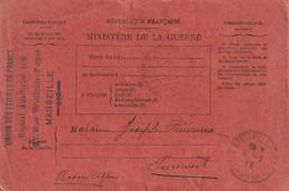 CPFM UNION DES FEMMES DE FRANCE HOPITAL AUXILIAIRE 108 MARSEILLE Pour Pierrevert Basses Alpes - WW I