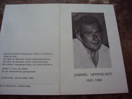 Doodsprentje/Bidprentje  Gabriël HERPOELAERT (Echtg Lydie Lefere) Lichtervelde 1943 - 1980 Roeselare  Smartelijk Ongeval - Religion & Esotericism