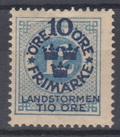 ++M1576. Sweden 1916. Landstorm. AFA 82. Michel 91. MH(*)  Hinged - Unused Stamps
