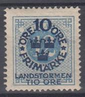++M1577. Sweden 1916. Landstorm. AFA 82. Michel 91. MH(*)  Hinged - Unused Stamps